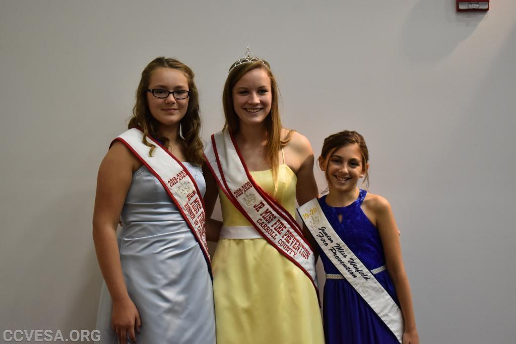 Runner Up - Megan Wilhelm Junior Miss - Amanda Gubernatis Second Runner Up - Leiana Baxter